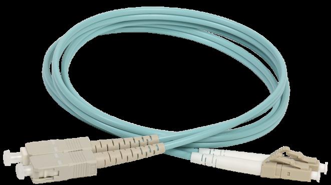 ITK Оптический коммутационный шнур (патч-корд), MM, 50/125 (OM3), LC/UPC-SC/UPC,(Duplex),1м, кабель витая пара