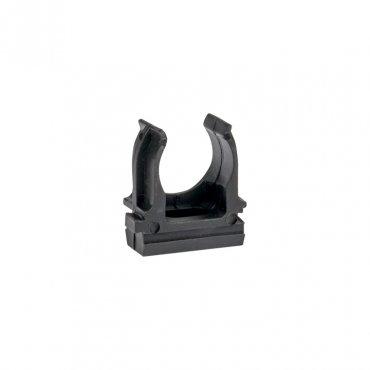 Крепеж-клипса черная d16мм (10шт.) Plast EKF PROxima, Крепления для труб