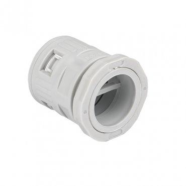 Коннектор для гофрированной трубы (32мм.) (10шт.) Plast EKFPROxima, Повороты, соединители, муфты