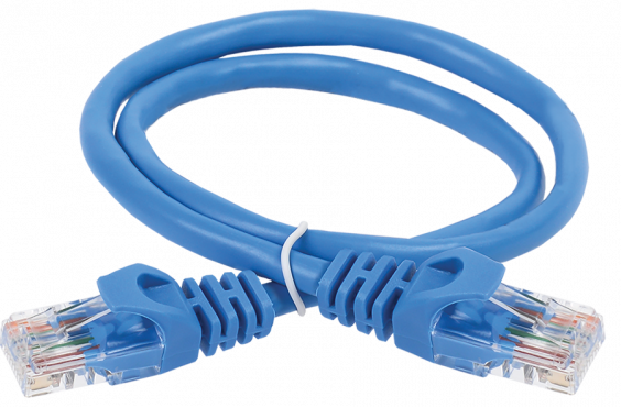ITK Коммутационный шнур (патч-корд), кат. 6 UTP PVC 5м синий, коммутационный шнур
