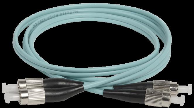 ITK Оптический шнур (патч-корд), MM, 50/125 (OM3), FC/UPC-FC/UPC,(Duplex),1м, кабель витая пара