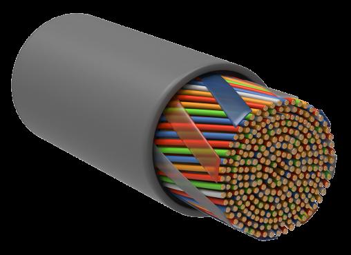 ITK Витая пара U/UTP кат.5E 50х2х24AWG PVC серый (305м), кабель витая пара