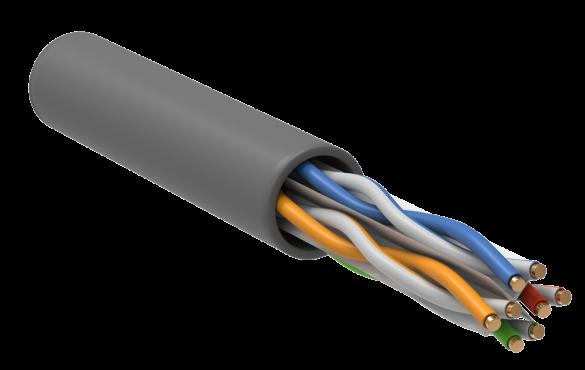 ITK Витая пара U/UTP кат.6A 4х2х23AWG LSZH серый (305м), кабель витая пара