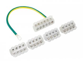 Комплект клеммников для сетей уличного освещения (3+1) Al 10-35 / Cu 1.5-25 EKF PROxima, Арматура к проводу СИП