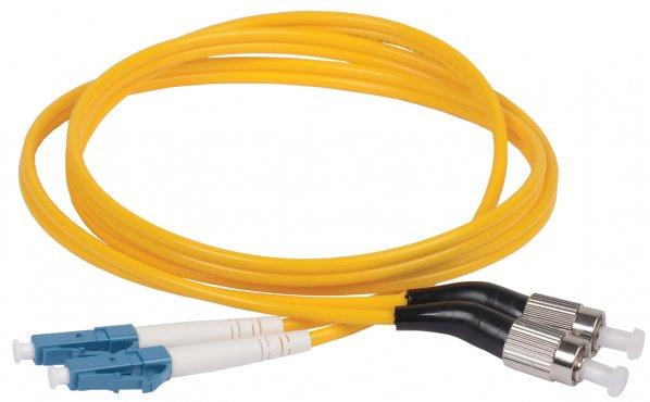 ITK Оптический шнур (патч-корд), SM, 9/125 (OS2), FC/UPC-LC/UPC,(Duplex),2м, кабель витая пара