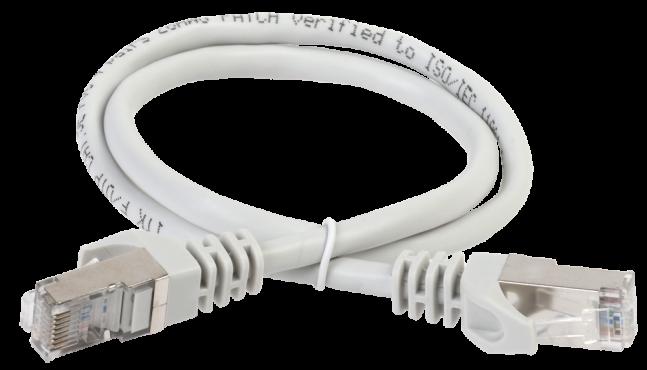 ITK Коммутационный шнур (патч-корд), кат.5Е FTP, LSZH, 1,5м, серый, кабель витая пара