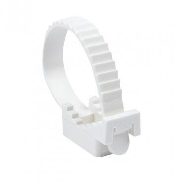 Крепеж ремешковый d=32 мм белый (50 шт.) EKF PROxima, Крепления для труб