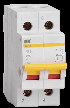Выключатель нагрузки (мини-рубильник) IEK ВН-32 2Р 100А