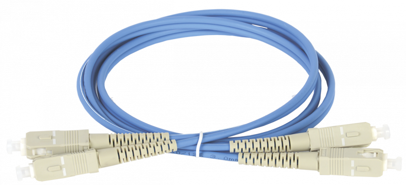 ITK Оптический шнур (патч-корд), MM, 50/125 (OM4), SC/UPC-SC/UPC,(Duplex),1м, кабель витая пара