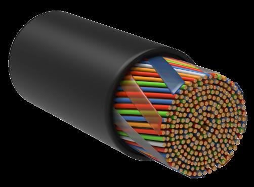 ITK Витая пара U/UTP кат.5E 10х2х24AWG LDPE черный (305м), кабель витая пара
