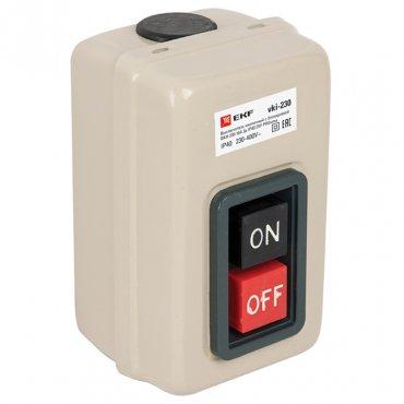 Выключатель кнопочный с блокировкой ВКИ-230 16А 3P IP40 EKF PROxima, Кнопки управления