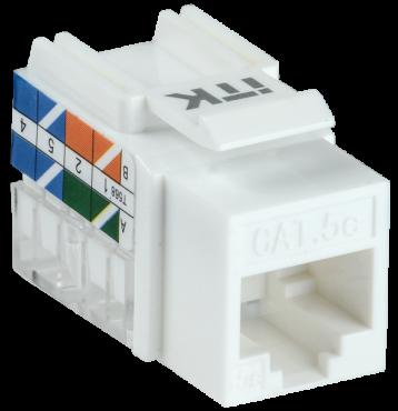 ITK Модуль Keystone Jack кат.5E UTP 110 IDC 90 град., кабель витая пара