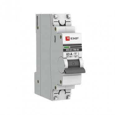 Выключатель нагрузки ВН-63 1Р 63А EKF PROxima, Выключатели нагрузки