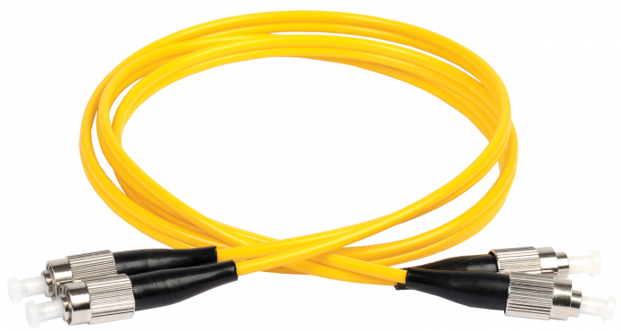ITK Оптический шнур (патч-корд), SM, 9/125 (OS2), FC/UPC-FC/UPC,(Duplex),1м, кабель витая пара