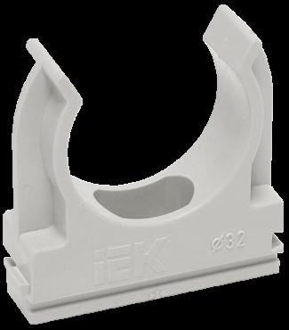 Держатель с защёлкой CF32 IEK серый, Крепления для труб