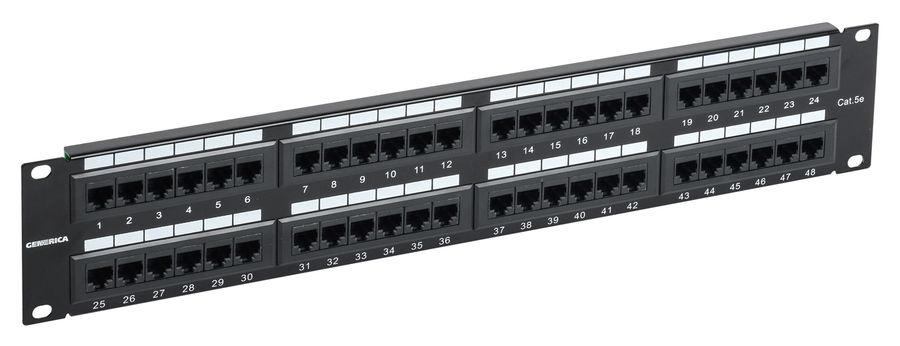 Патч-панель 2U кат. 5Е UTP 48 портов (Krone) GENERICA, кабель витая пара