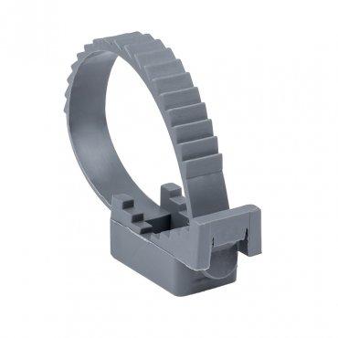 Крепеж ремешковый d=32 мм серый (50 шт.) EKF PROxima, Крепления для труб