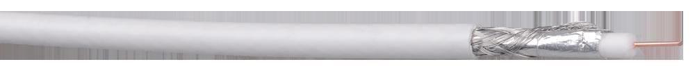 Кабель коаксиальный внут. RG-6, 75 Ом, CCS/Al/Al, 305м белый ИЭК, Телевизионный кабель