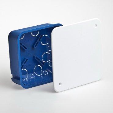 Коробка распределительная для скрытой установки 100х100 мм для сплошных стен, Коробки распределительные