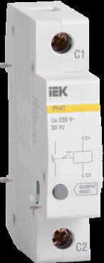 Расцепитель независимый РН-47 новая серия на DIN-рейку IEK, Дополнительные устройства модульной серии
