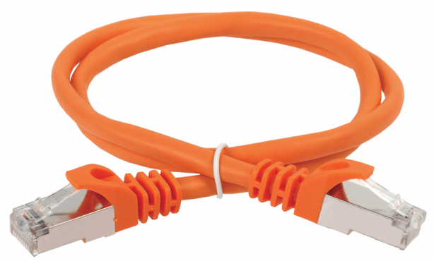ITK Коммутационный шнур (патч-корд), кат.5Е FTP, 1,5м, оранжевый, кабель витая пара