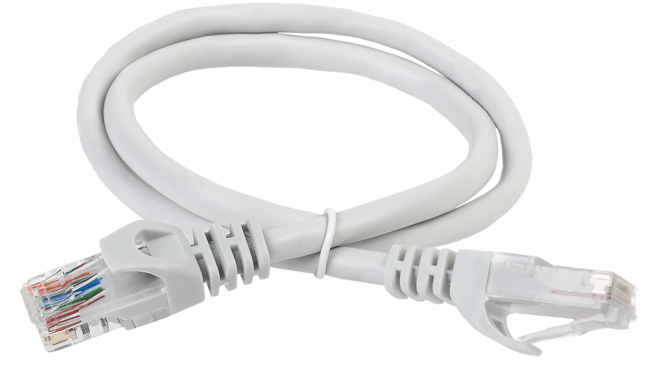 ITK Коммутационный шнур (патч-корд), кат.5E UTP, 7м, серый, коммутационный шнур