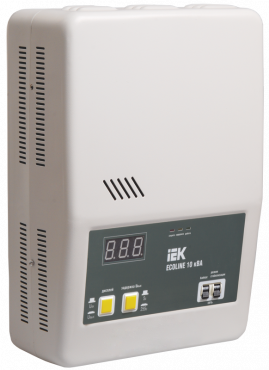 Стабилизатор напряжения настенный серии Ecoline 10 кВА IEK, Стабилизаторы однофазные