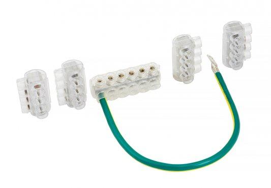 Комплект клеммников SV15 (Al 10-35 / Cu 1.5-25) для сетей уличного освещения EKF PROxima, Арматура к проводу СИП