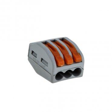 Строительно-монтажная клемма EKF СМК 222-413 3х2,5 с рычажком