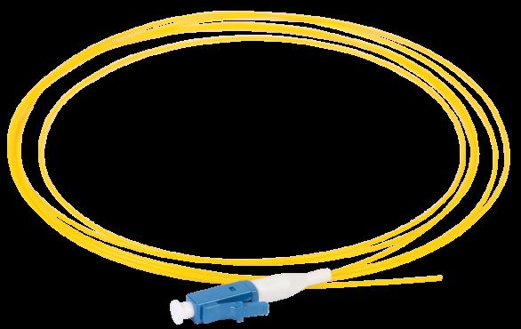 ITK Оптический шнур (патч-корд), пигтеил, (SM), 9/125 (OS2), LC/UPC, LSZH, 1,5м, кабель витая пара