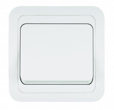 Выключатель одноклавишный МИМОЗА MAKEL белый, Выключатели встраиваемые