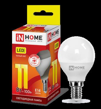 Лампа светодиодная LED-ШАР-VC 11Вт 230В Е14 3000К 820Лм IN HOME
