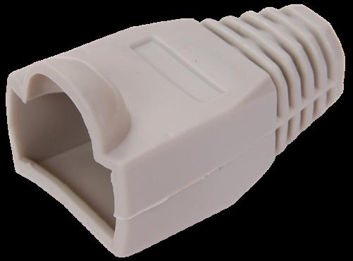 ITK Колпачок изолирующий для разъема RJ-45, PVC, СЕРЫЙ, Штекеры телефонные и телевизионные