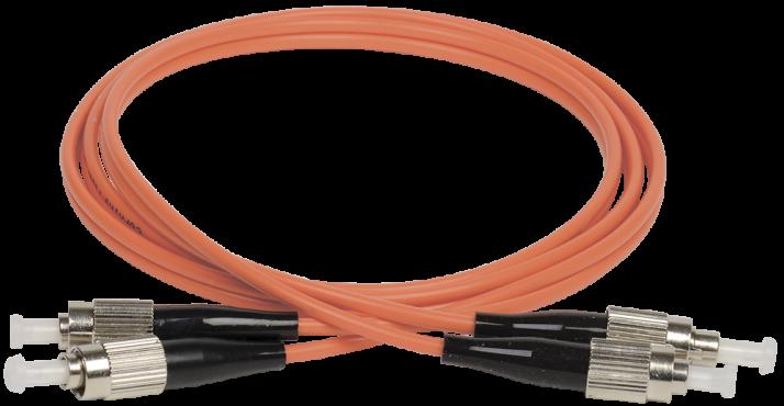 ITK Оптический шнур (патч-корд), MM, 50/125 (OM2), FC/UPC-FC/UPC,(Duplex),1м, кабель витая пара