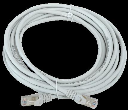 Коммутационный шнур (патч-корд), кат. 5Е FTP 5м серый GENERICA, кабель витая пара