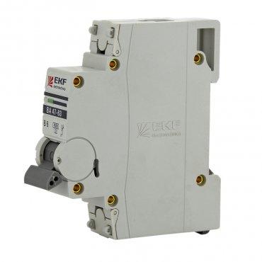 Автоматический выключатель EKF PROxima ВА47-63 1P 16А 4,5кА характеристика С, Автоматические выключатели модульные