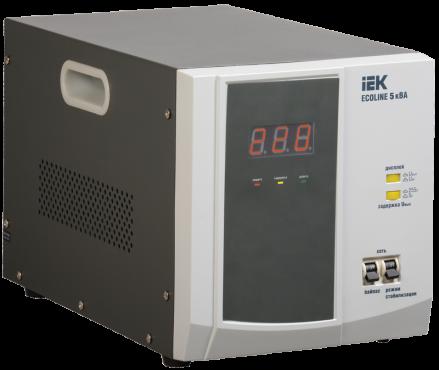 Стабилизатор напряжения переносной серии Ecoline 5 кВА IEK, Стабилизаторы однофазные