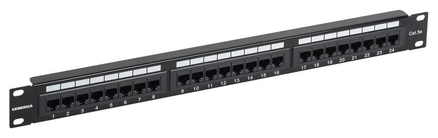 Патч-панель 1U кат. 5Е UTP 24 порта (Krone) GENERICA, кабель витая пара