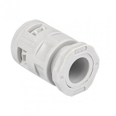 Коннектор для гофрированной трубы (20мм.) (50шт.) Plast EKFPROxima, Повороты, соединители, муфты