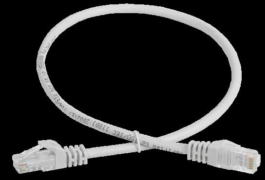 Коммутационный шнур (патч-корд), кат. 5Е UTP 2м серый GENERICA, кабель витая пара