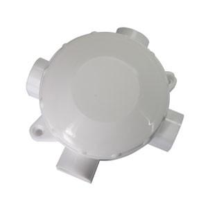 Коробка распределительная для открытой установки 4-х рожковая пластиковая белая, Коробки распределительные