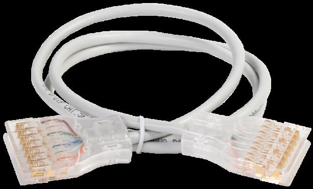 ITK Коммутационный шнур (патч-корд) 110-110 4 пары, кат.5Е, 3м, серый, коммутационный шнур