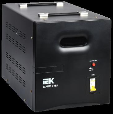 Стабилизатор напр. 1-ф. переносн. 8кВА EXPAND IEK, Стабилизаторы однофазные