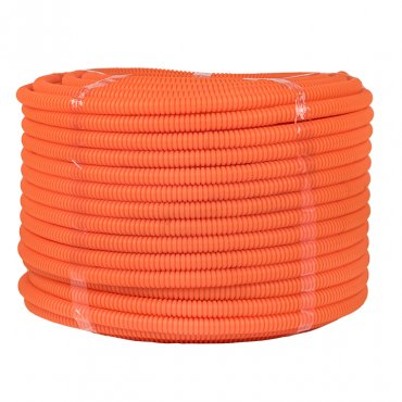 Труба гофр. ПНД Plast с зондом d20мм (100м.) оранжевая EKF PROxima, Труба гофрированная ПНД