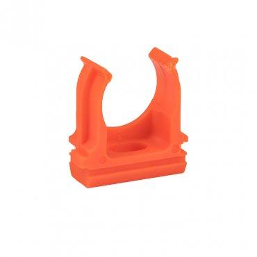 Крепеж-клипса оранжевая d20мм (10шт.) Plast EKF PROxima, Крепления для труб