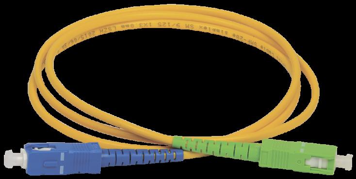 ITK Оптический шнур (патч-корд), SM, 9/125 (OS2), SC/UPC-SC/APC,(simplex),3м, кабель витая пара