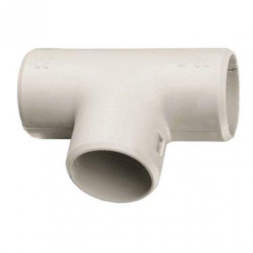 Тройник соединительный для трубы Plast (20мм.) EKF PROxima, Повороты, соединители, муфты
