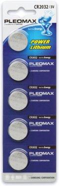 Батарейки Pleomax CR2032-5BL, Литиевые батарейки