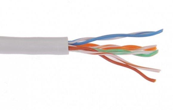 ITK Кабель связи витая пара U/UTP кат.6 4x2х23AWG solid LSZH 305м серый, кабель витая пара