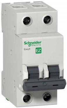 Автоматический выключатель Schneider Electric Easy9 2P 16A 4,5кА характеристика C, Автоматические выключатели модульные